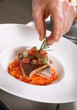 Chef preparing food poster