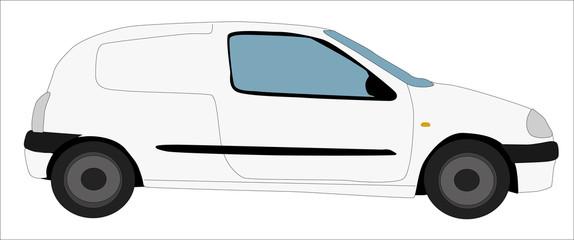 Furgoneta blanca