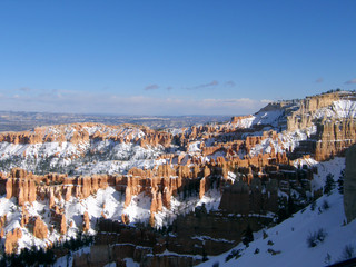 Snow Capped Hoodoos in Byrce