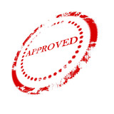 Approval stamp poster