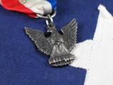 Eagle Scout Award on Flag-Center poster