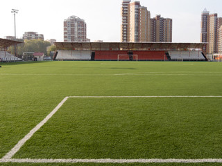Stadium with a field for soccer