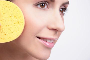 Kosmetik Gesicht Pflege Schwamm Schönheit