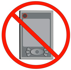 pda not allowed or turn off electronic devices