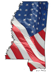 U.S. flag over Mississippi