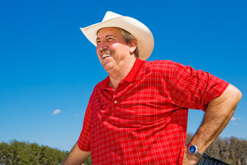Mature Cowboy Laughing