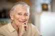 canvas print picture - Happy senior woman portrait