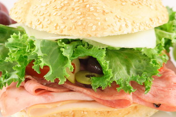 front of a tasty sandwich