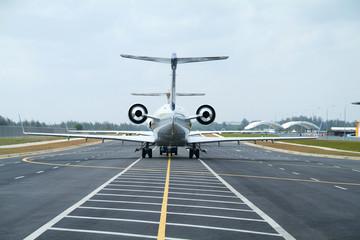Two executive aircrafts