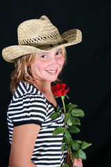 Straw Hat and Rose