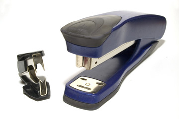 stapler and staples remover on a white background