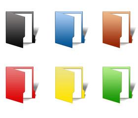 Folder paper icon