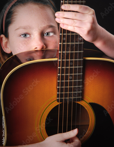 Girl Holding Guitar