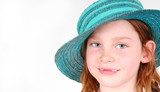Girl in Green Bonnet