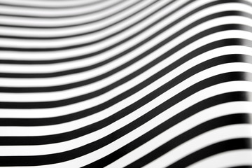 black and white stripes with an op art effect