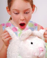Girl and Bunny Basket