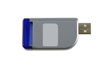 SD Card Reader (with clipping path)