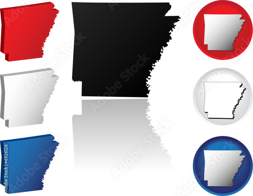 State of Arkansas Icons