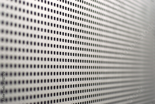 Square perforations in aluminum sheet
