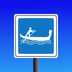 Warning Gondolas sign