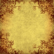 grungy paper with decorative borders