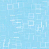 Seamless background with pale blue squares poster