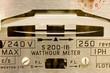 Electric meter dial