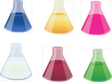 Science Conical Flask icons