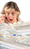 shocking pile of bills poster