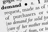 Demand word dictionary definition poster