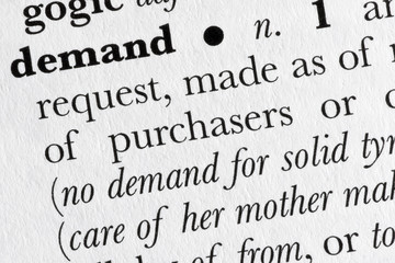 Demand word dictionary definition