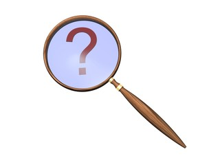 question and magnifying glass
