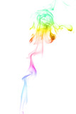 Rainbow color smoke 0n white