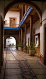 Entrance Arch Courtyard Mexico poster