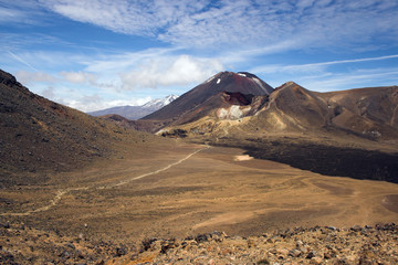 Mount Ngauruhoe, Red Crater, Tongariro Crossing, New Zealand