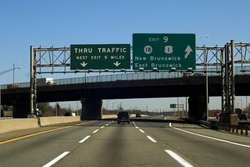 NJ Turnpike (I-95) near New Brunswick, New Jersey