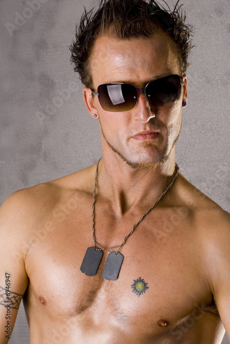 Dramatic Guy with Dogtags