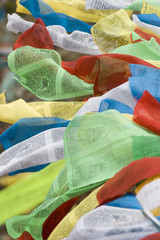 Tibetan prayer flags in Tibet