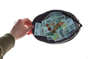 Money in cap