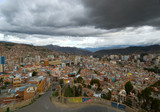 Panoramic view of La Paz, Bolivia poster