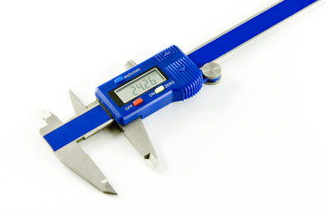 Vernier caliper on white background