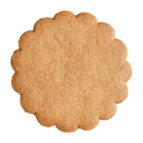 traditional scandinavian thin ginger biscuit, isolated to accomp poster