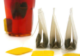 Three tea bags