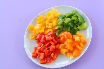 Plate of fresh peppers