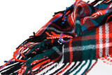 Plaid Wool Knit Neck Scarf poster