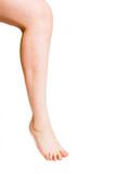 Smooth female leg poster
