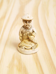 Chess soldier in Vintage Chinese Style