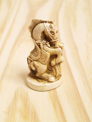 Chess knight  in Vintage Chinese Style