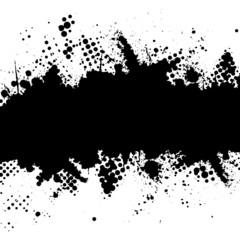 Halftone ink splat grunge background for text.