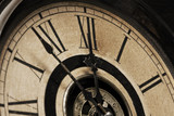 Old Grandfather Clock Soon to Strike Midnight poster